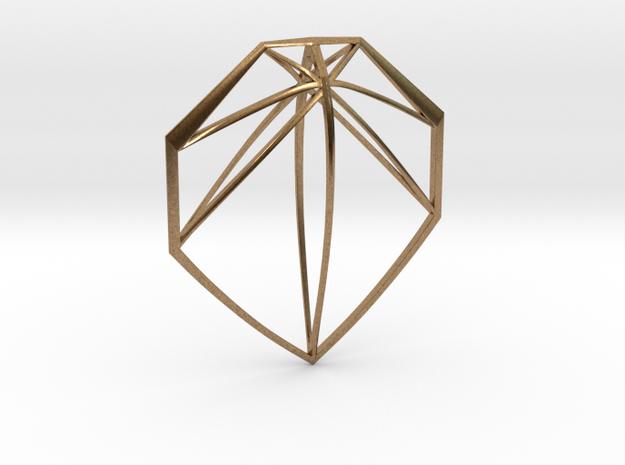 Geometric Pendant in Raw Brass