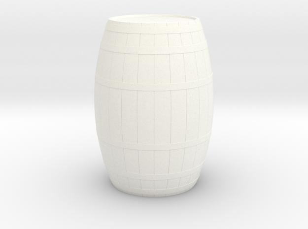 18th Century Barrel (21hx15dia) 1/35 in White Processed Versatile Plastic
