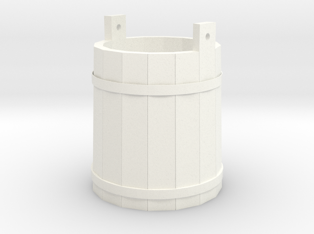 18th Century Pale or Bucket 1/24 in White Processed Versatile Plastic