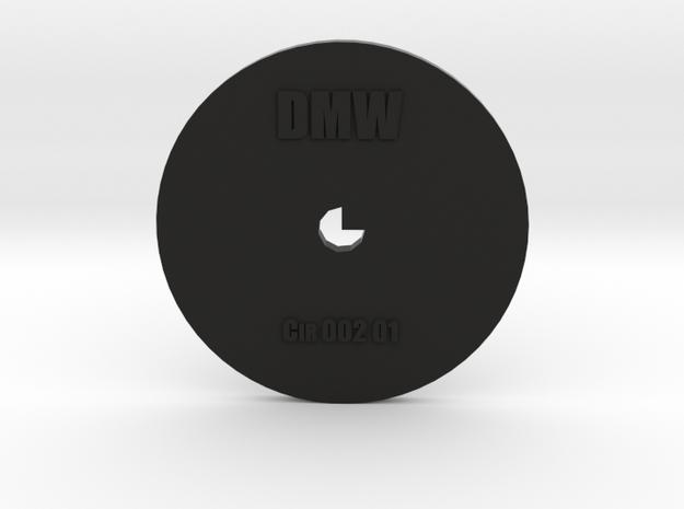 Clay Extruder Die: Circle 002 01 in Black Natural Versatile Plastic