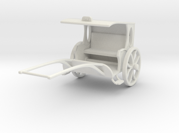Fantasy Rickshaw  in White Natural Versatile Plastic