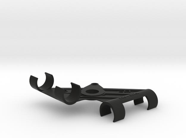 XY Stereo Mic Clip 22mm in Black Natural Versatile Plastic