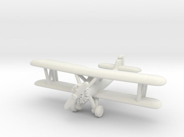 Vought O2U-1 Corsair with landing gear 1/285 6mm in White Natural Versatile Plastic