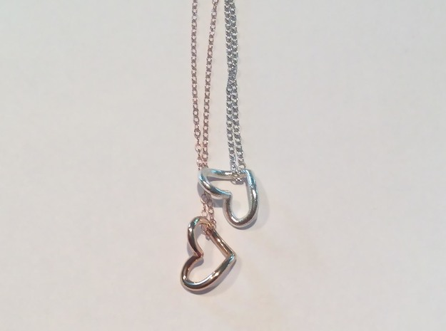 Heart Necklace in Premium Silver