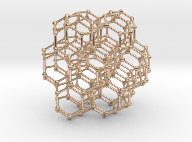 Bitruncated Cubic Honeycomb in Rose Gold plating for under $150