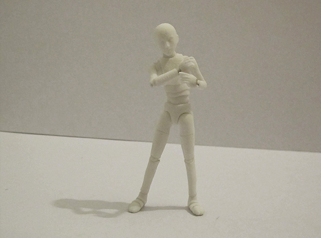1/16 scale MALE ball jointed doll kit in White Strong & Flexible