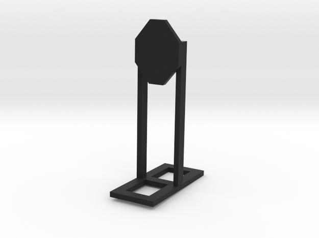1:24 Scale IPSC Classic Target in Black Natural Versatile Plastic
