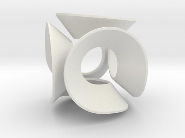 Lobke (Small) in White Natural Versatile Plastic