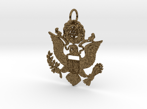 Tis of thee Pendant in Polished Bronze