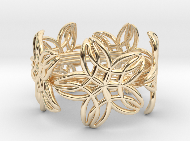 Ring 20.2mm in 14k Gold Plated Brass