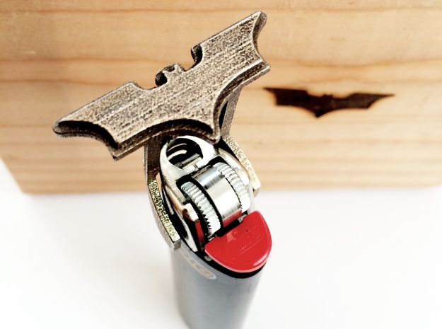 Batman Branding Iron in Polished Bronzed Silver Steel