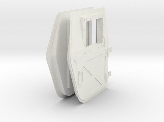 1:6 scale Hasbro HMMWV Doors back in White Natural Versatile Plastic