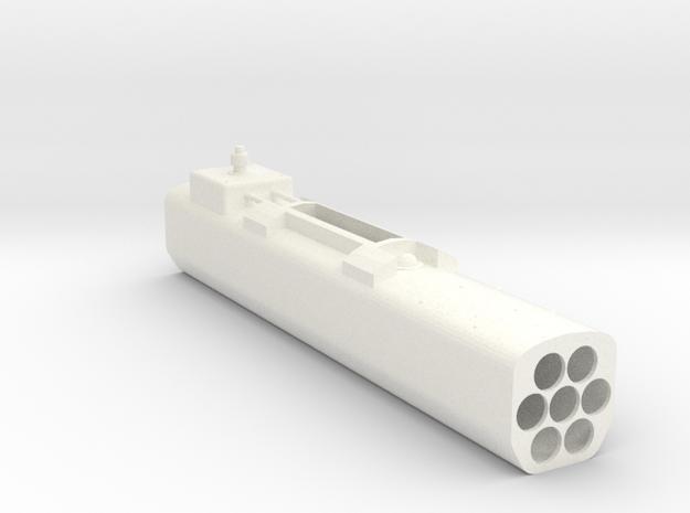 1.6 Missile POD Left (A) in White Processed Versatile Plastic