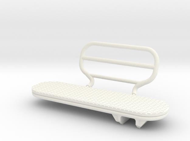 1.5 BIG SIDE STEP LAMA in White Processed Versatile Plastic