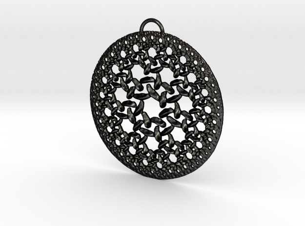 ReRound Pendant in Matte Black Steel
