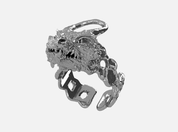 Ring Dragon 2 in Polished Nickel Steel