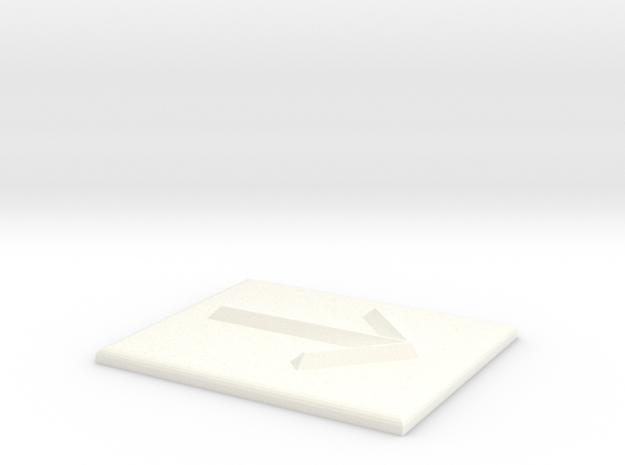 Pfeil nach rechts in White Processed Versatile Plastic