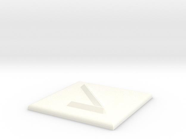 Pfeil nach rechts unten in White Processed Versatile Plastic