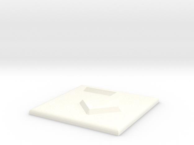 Pfeil nach rechts und nach unten in White Processed Versatile Plastic