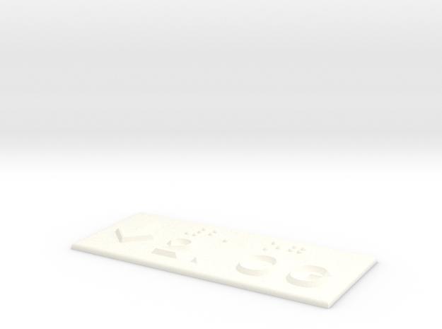 2.OG mit Pfeil nach unten in White Processed Versatile Plastic