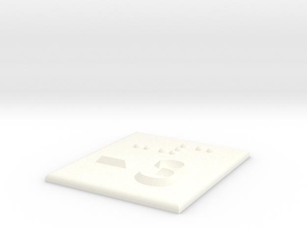 -3 (Minus drei) in White Processed Versatile Plastic