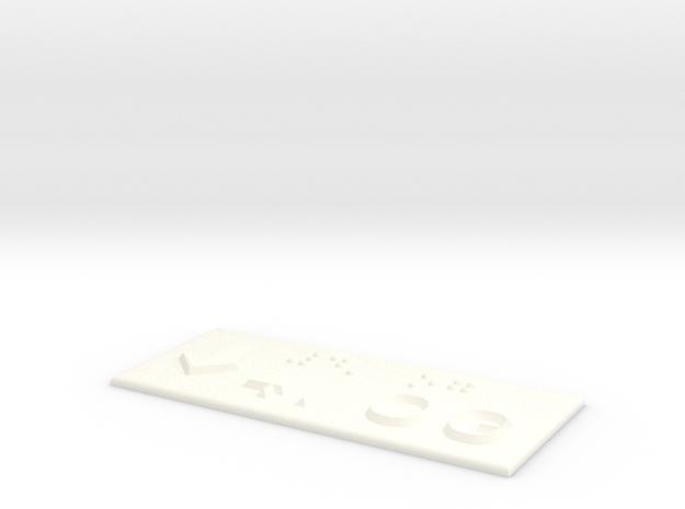 4.OG mit Pfeil nach unten in White Processed Versatile Plastic