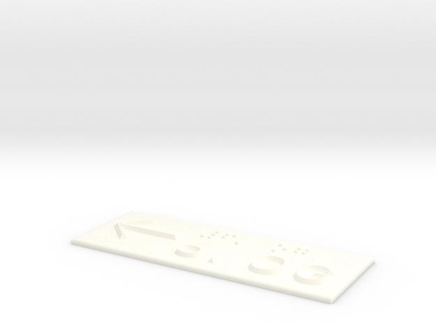 6.OG mit Pfeil nach links in White Processed Versatile Plastic