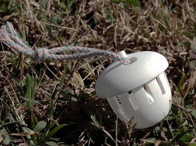Acorn Bell (Large Size) in White Natural Versatile Plastic
