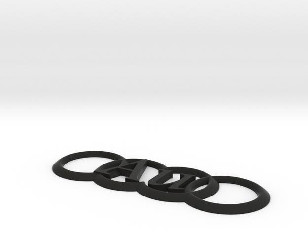 Audi Au AudiVWUnderground Emblem  in Black Natural Versatile Plastic