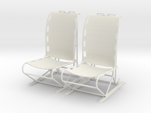 1.4 LAMA PILOT SEATS X2 in White Natural Versatile Plastic