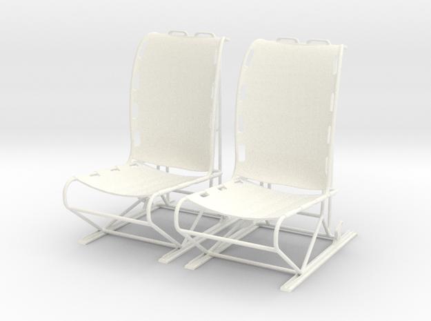 1.8 LAMA PILOT SEATS X2  in White Processed Versatile Plastic