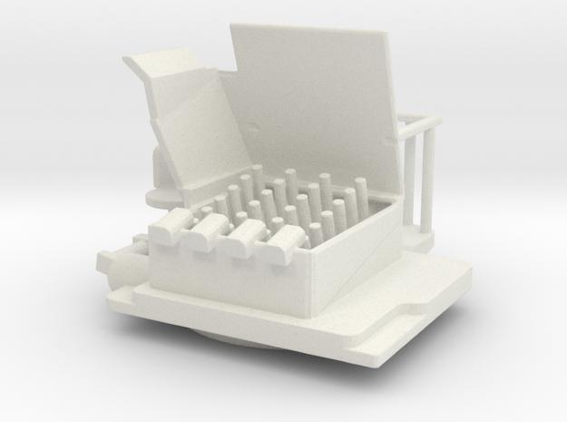 1/96 scale HedgeHog Mk 14 Mod 1  in White Natural Versatile Plastic