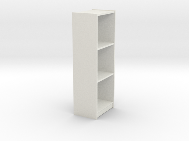 1/6th Bookshelf in White Natural Versatile Plastic
