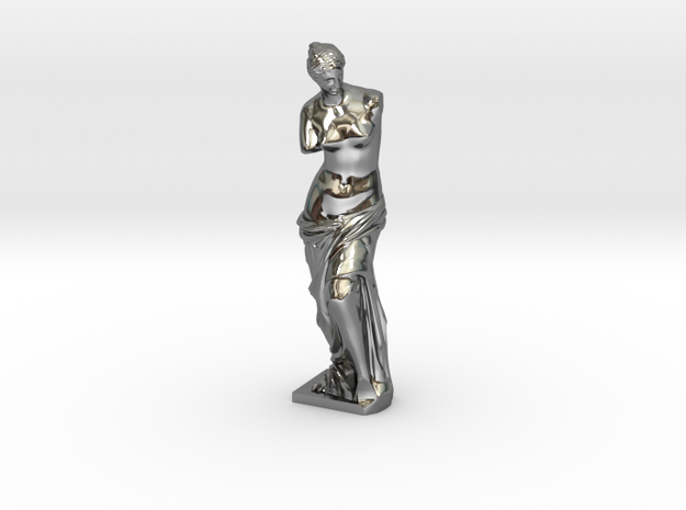 Venus de Milo in Fine Detail Polished Silver