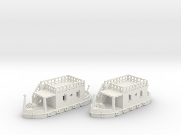 2 Hausboote Set 1 - 1:220 (Z scale)