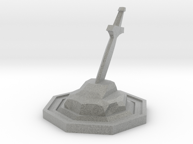 Sword Stone in Metallic Plastic