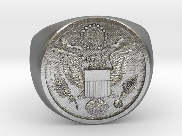 Great Seal of the US in Natural Silver