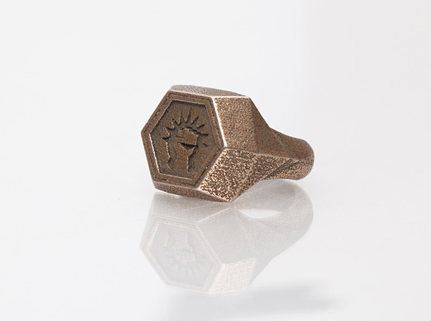 Magic: The Gathering    Boros Ring(US Size 10) 3d printed Stainless Steel