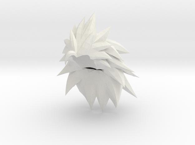 Custom Goku SSj3 Inspired MINIMATE in White Natural Versatile Plastic