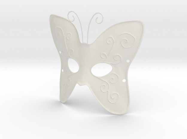 Splicer Mask Butterfly in White Strong & Flexible