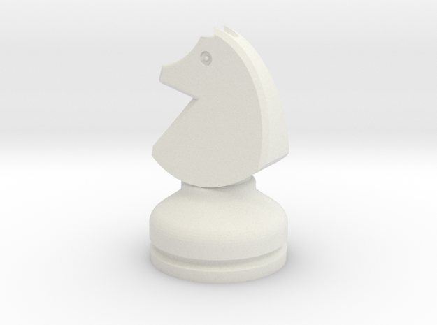 MILOSAURUS Chess LARGE Staunton Knight in White Natural Versatile Plastic