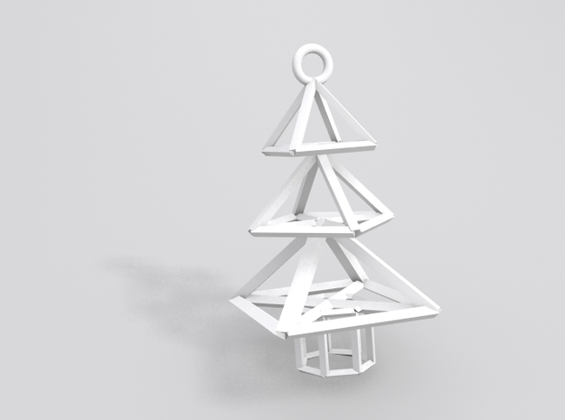 Modern Christmas Tree Earrings 3d printed Sample render