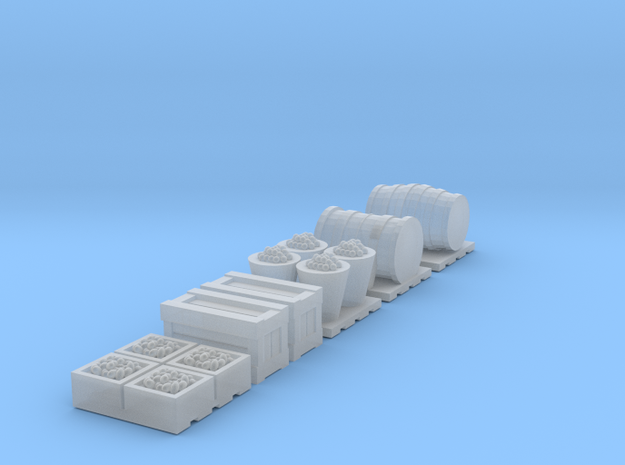 TT Scale 1:120 Cargo Accessories in Smooth Fine Detail Plastic