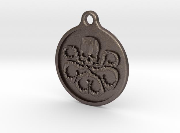 Hydra Keychain in Polished Bronzed Silver Steel