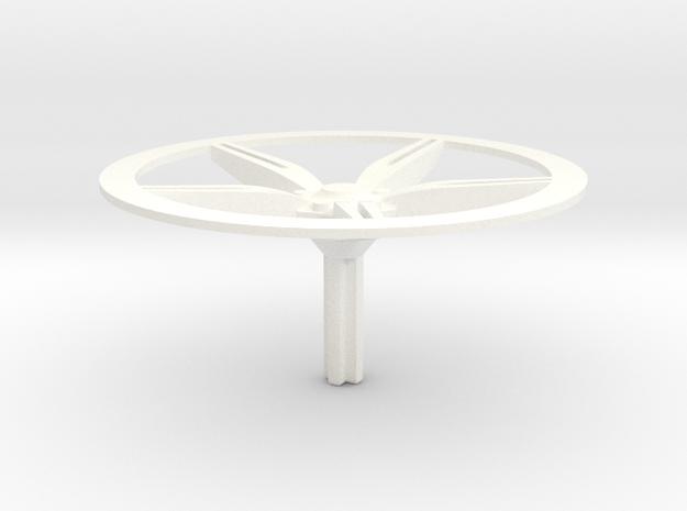 458 Speciale Rimcover in White Processed Versatile Plastic