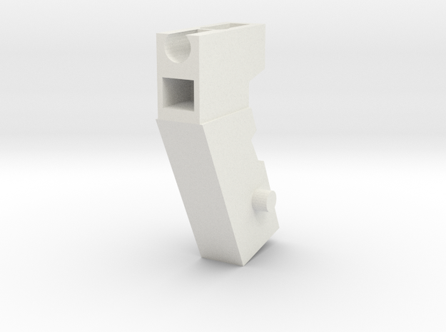 Handle Adapter (Shockblaster) for Nonnef Hands in White Natural Versatile Plastic