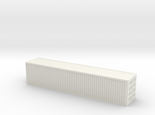 1/250 scale 40 feet Container in White Strong & Flexible