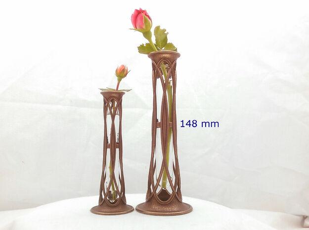 Bronze Metal Bud Vase - 5.8 in (148 mm)