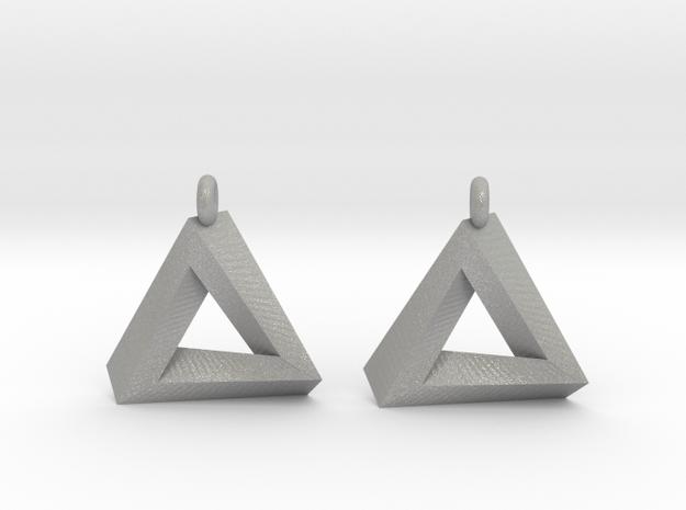 Penrose Triangle - Earrings (17mm) 3d printed