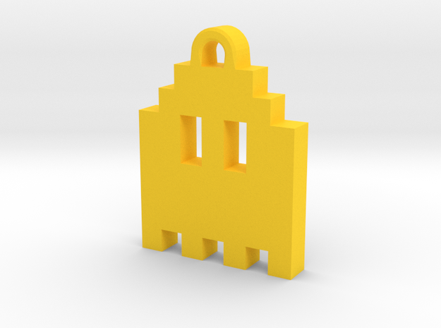 Pac Man Ghost 8-bit Earring 1 (looks up   moving) 3d printed